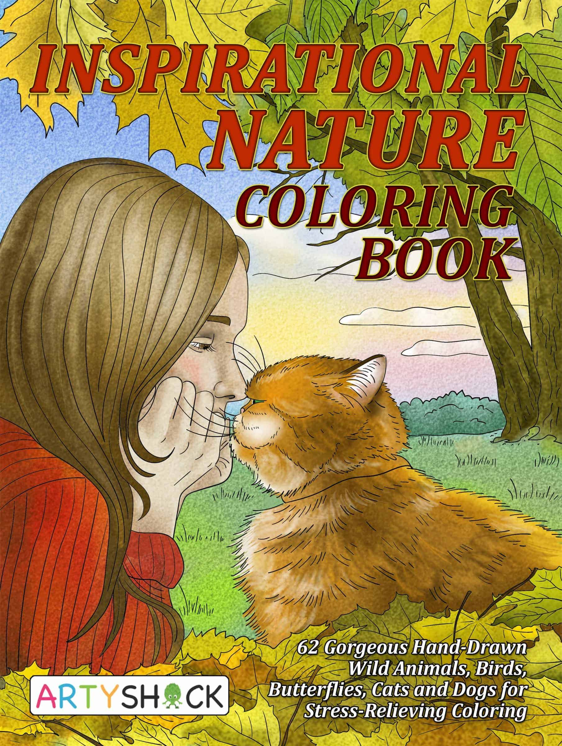 Inspirational Nature Coloring Book Gorgeous Hand Drawn Wild
