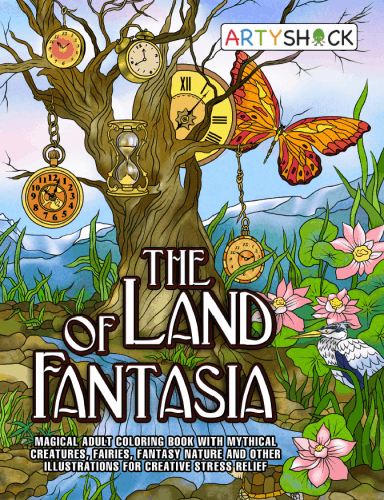 The Land of Fantasia: Magical Adult Coloring Book with Mythical ...