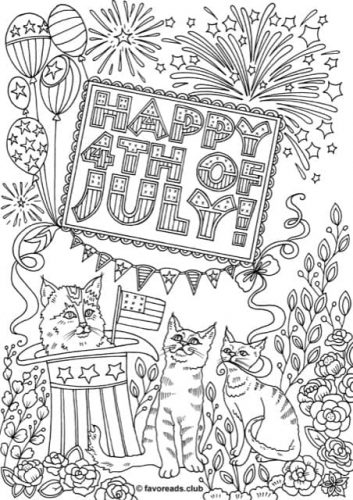 FREE Printable Fourth of July Coloring Pages - Printable ...
