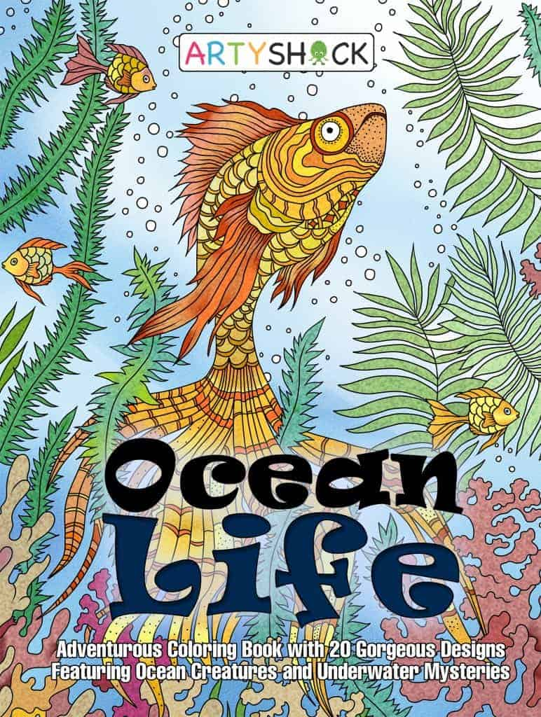 Ocean Life Coloring Book: Gorgeous Ocean Creatures and Underwater Mysteries For Stress-Relieving Coloring