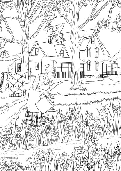 Best Adult Coloring Pages to Print Featuring Country Scenes and ...