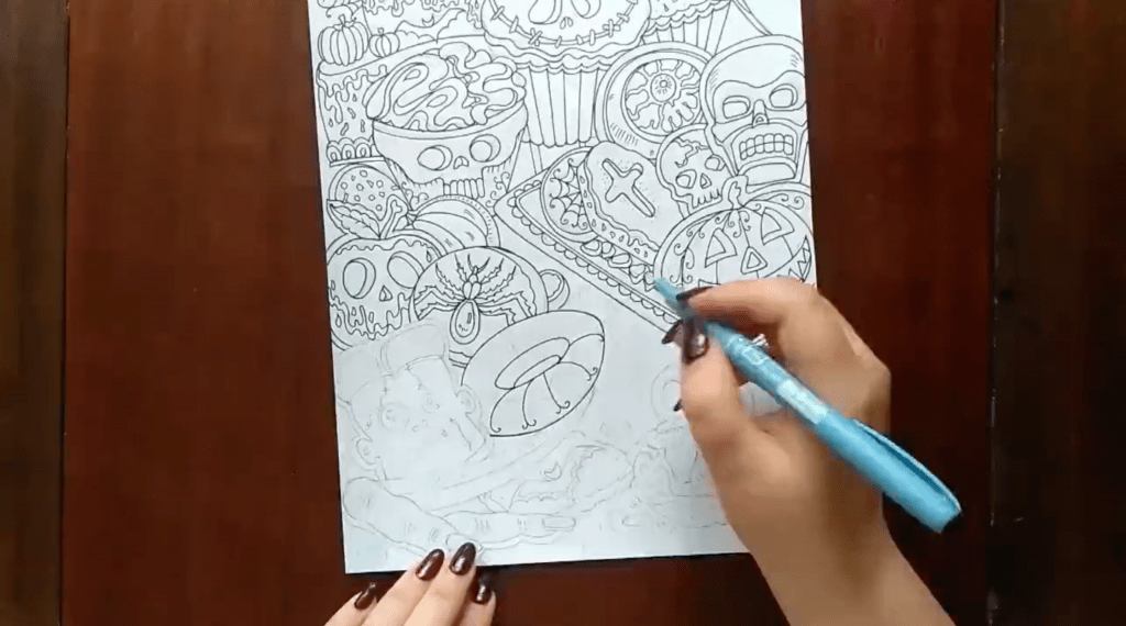 Halloween Coloring Design – The Work is Under Way!