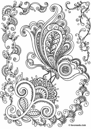Turn Butterfly and Flower Coloring