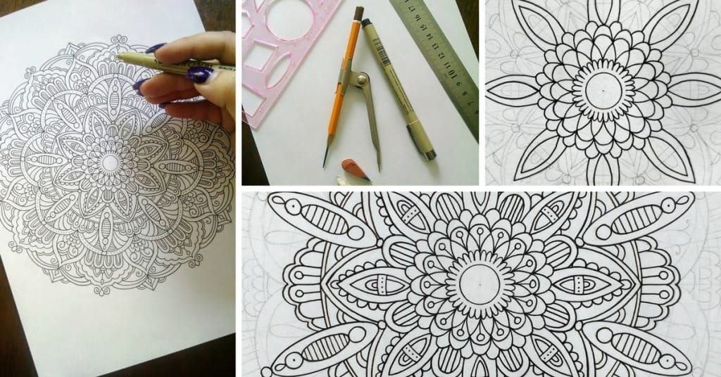 How to Draw Mandala Designs and Create Your Own Free Coloring Pages ...