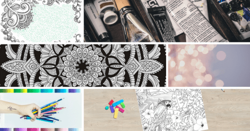 adult coloring books - background coloring ideas banner