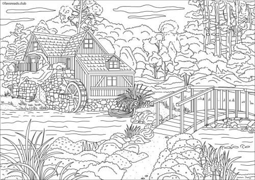 Authentic architecture victorian style house printable Coloring book club for adults
