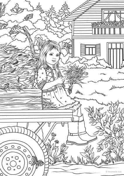 spring scene coloring pages - photo#39