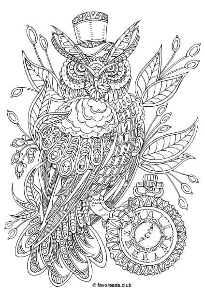 Fantasia Steampunk Owl Printable