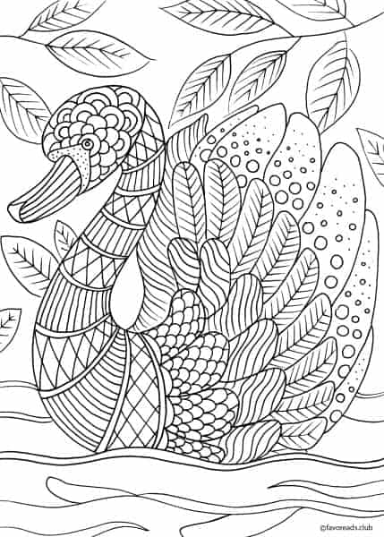 Animals and Birds Swan Printable