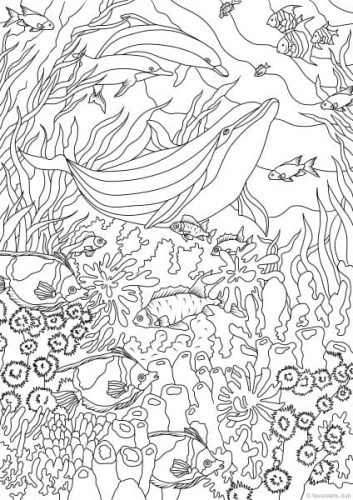 Sea Life Coloring Pages Ocean Life 10 Coloring Pages Printable Adult Coloring