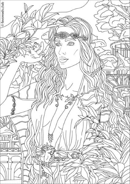 Fantasia Forest Fairy Printable Adult Coloring Pages