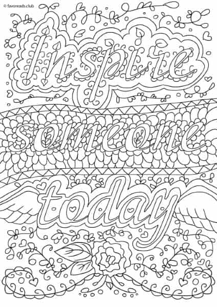 funny finished coloring book pages | Inspirational Messages - Inspire Someone Today - Printable ...
