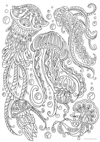 Fantasia - Sea Monster - Printable Adult Coloring Pages ...