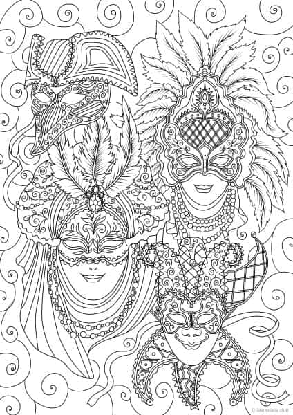Veian Masks Printable Adult