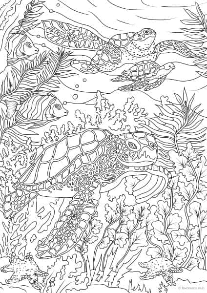 Ocean Life Turtles Printable