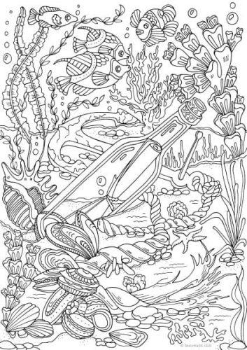 Ocean Life Printable Adult Coloring