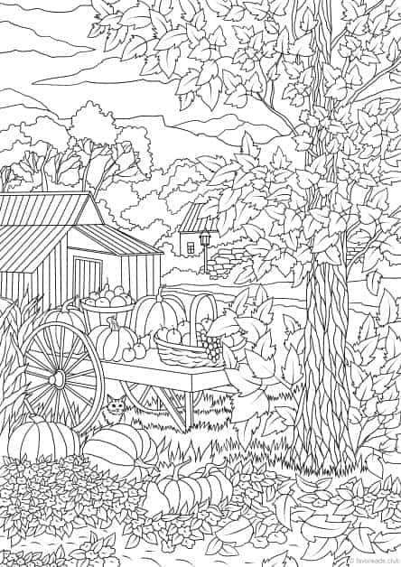 Old Fashioned image with free printable fall coloring pages for adults
