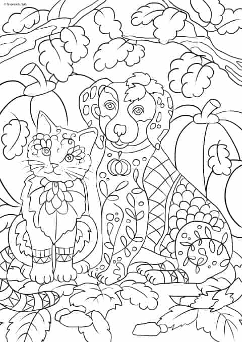 dog cats coloring pages - photo#39
