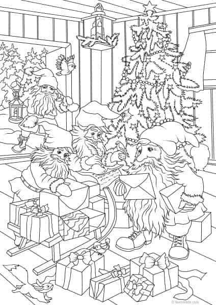 Gnomes printable adult coloring pages from favoreads Coloring book club for adults