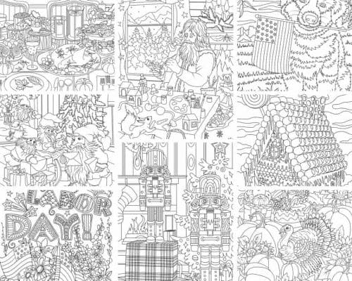 Holidays 10 Coloring Pages