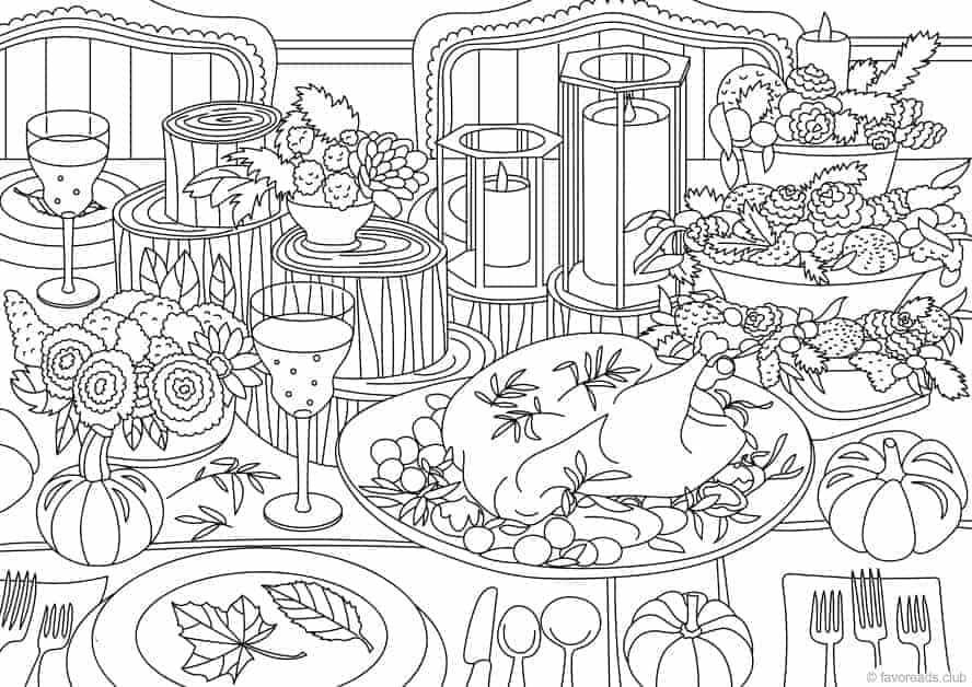 thanksgiving abstract coloring pages - photo#8