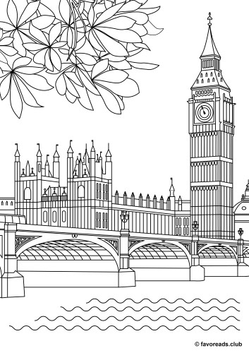 Creative Sights Big Ben Printable Adult Coloring Pages