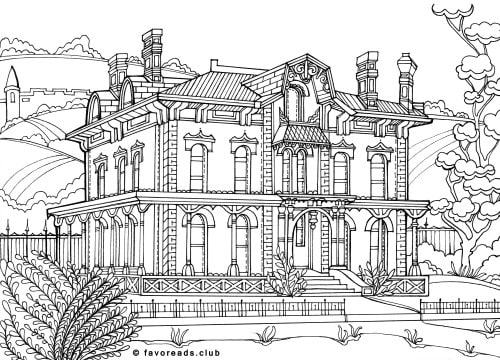 mansions coloring pages - photo#1