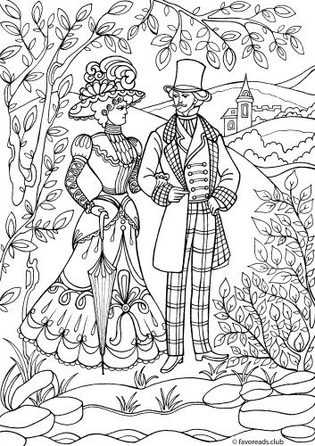 Victorian Era Printable Adult Coloring