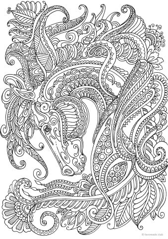 Best Advanced Coloring Sheets for Adults - Printable Adult ...