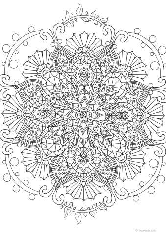 mandala design for creative stress relief printable adult coloring pages from favoreads. Black Bedroom Furniture Sets. Home Design Ideas