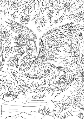 Incredible Printable Horse Coloring Pages