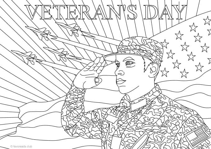 Veterans Day Printable Coloring Page