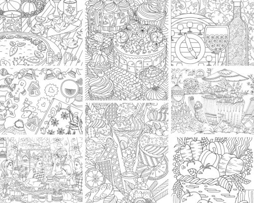 Home Printable Adult Coloring