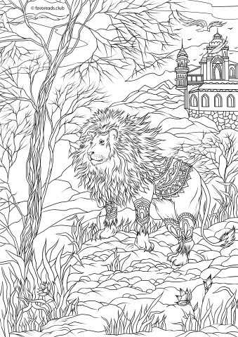 The Land Of Fantasia Magical Adult Coloring Book With Mythical