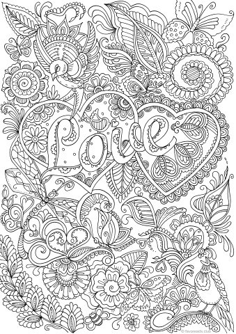 pin it on pinterest printable adult coloring pages from favoreads - Free Printable Coloring Book Pages