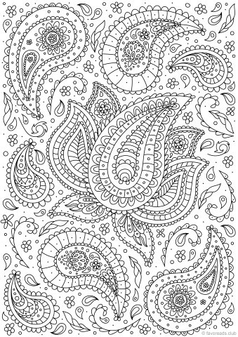 Magic image with regard to paisley printable coloring pages