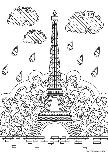 Eiffel Tower Favoreads Coloring Club