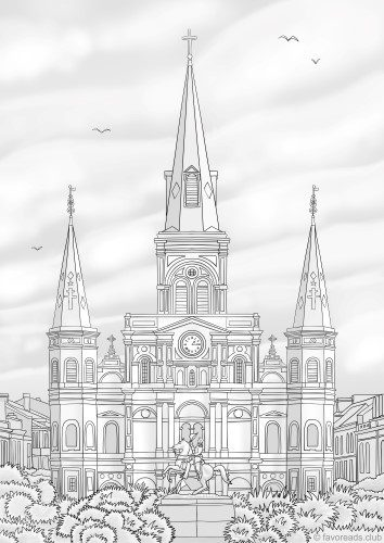 cathedral coloring pages - paris printable adult coloring pages from favoreads