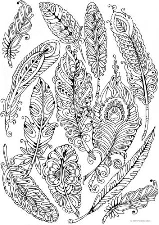coloring pages of a | The Best Free Adult Coloring Book Pages