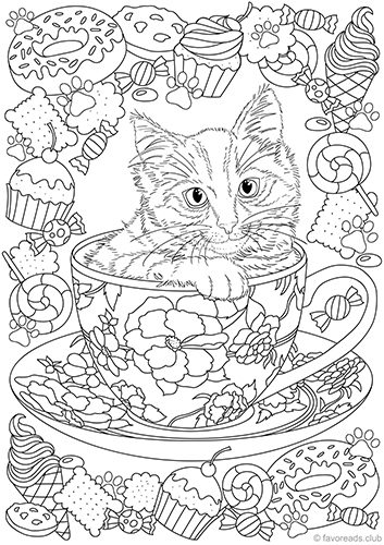 Cat ice cream coloring pages ~ Ice Cream Truck - Printable Adult Coloring Pages from ...