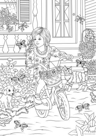 The best free adult coloring book pages for Country girl coloring pages