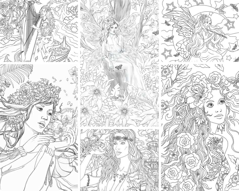 Charming Fairies - 10 Coloring Pages