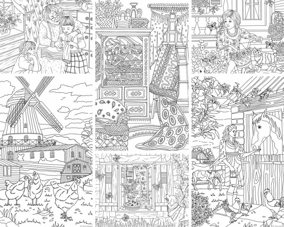 Farm Life – 10 Coloring Pages