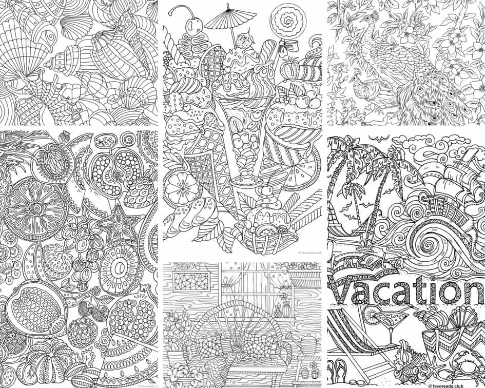Summertime - 10 Coloring Pages