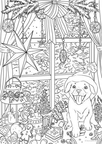 christmas printable adult coloring pages from favoreads