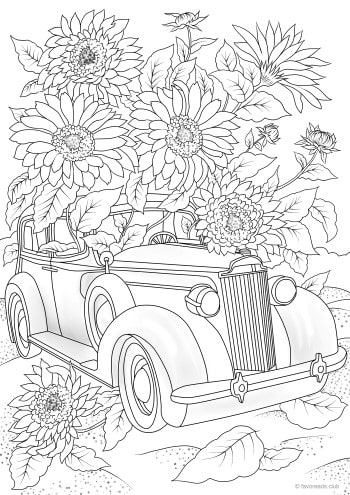 Car with Flowers