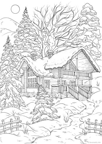 Winter House – Favoreads Coloring Club